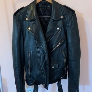 BLK DNM Classic Biker 5 Leather Motorcycle Jacket
